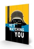 He's Watching You Dřevěná cedule