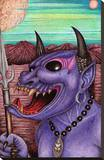 Purple Demon Stretched Canvas Print by Carlos Fox Lopez