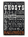 Tricks or Treats (black) Poster by  Barn Owl Primitives
