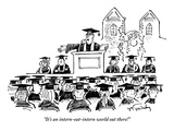 """""""It's an intern-eat-intern world out there!"""" - New Yorker Cartoon Premium Giclee Print by Mike Twohy"""