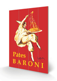 Pates Baroni Wood Sign