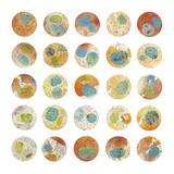 Orange & Green Circles Poster von Kate Endle