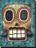Sonríe Reproducción en lienzo de la lámina por Abril Andrade
