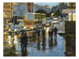 Edinburgh at Dusk Premium Giclee Print by Desmond O'hagan