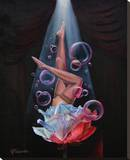 Spirit of Burlesque Stretched Canvas Print by Anthony Velasquez