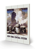 New York Central System Wood Sign by Leslie Ragan