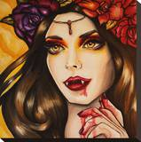 Vampire Stretched Canvas Print by Brittany Hanks