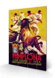 Pamplona, San Fermin Træskilt af Charles Dana Gibson