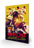 Pamplona, San Fermin Wood Sign by Charles Dana Gibson