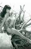 Bettie Page Beach Bettie Pin-Up Prints