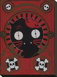 Zombie Kitty Stretched Canvas Print by  Anthem