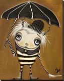Umbrella Nurdle Stretched Canvas Print by Dottie Gleason