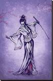 Rise of the Geisha Stretched Canvas Print by David Lozeau