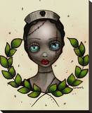 Zombie Nurse Stretched Canvas Print by Abril Andrade