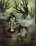 Zombie Graveyard Stretched Canvas Print by Diana Levin