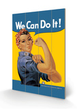 We Can Do It! Dřevěná cedule