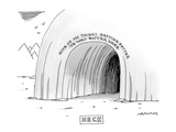 """Give up on things getting better ye who enter here."" - New Yorker Cartoon Premium Giclee Print by Mick Stevens"