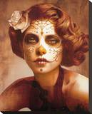 Vendimia Belleza Stretched Canvas Print by Daniel Esparza