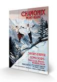 Chamonix Monte Bianco Targa in legno di Francisco Tamagno