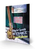 Sports d'hiver en France Panneau en bois par Roland Hugon