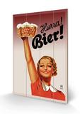Harra! Bier! Træskilt af  Gericault