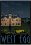 West Egg Retro Travel Poster Plakát