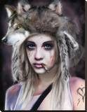 Wolf Hunter Stretched Canvas Print by Piper Rudich