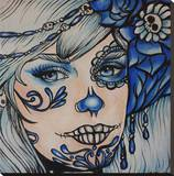 Spooky Blue Stretched Canvas Print by Brittany Hanks