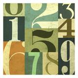 123 Premium Giclee Print by Stella Bradley