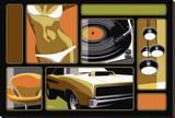 Marco Almera - Charger Lounge - Şasili Gerilmiş Tuvale Reprodüksiyon