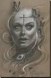 Vida Stretched Canvas Print by Miguel Camarillo