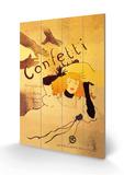 Confetti Wood Sign by Henri de Toulouse-Lautrec
