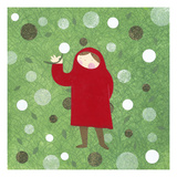 Lil Red Dandelion Giclee Print by Kate Endle