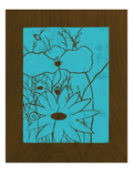 Wenge Wood Floral 1-Blue Giclee Print by Kathleen McCarty