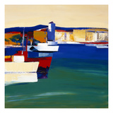 Au Port Giclee Print by  Monestier