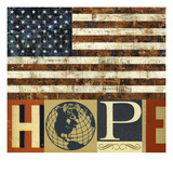 Hope Flag Giclee Print by Stella Bradley