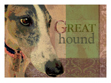 Greyhound Giclee Print by Wendy Presseisen