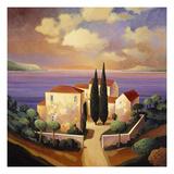 Villa sur la mer Affiche par Max Hayslette