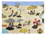 Sunday At The Beach Giclee Print by David Dimond