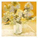 Bouquet aus weißen Hortensien Poster von Dale Payson