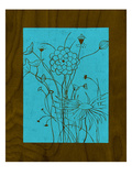 Wenge Wood Floral 2-Blue Giclee Print by Kathleen McCarty