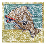 Mosaic Fish II Giclee Print by Susan Gillette