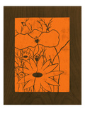 Wenge Wood Floral 1-Orange Giclee Print by Kathleen McCarty