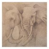 Elefantes en el Papel Uno Giclee Print by Carolina Luzon