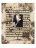 Principles of Music-Beethoven Fotodruck von Susan Hartenhoff