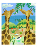 Giraffes Giclee Print by Nathaniel Mather
