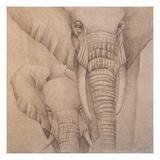 Elefantes en el Papel Quatro Giclee Print by Carolina Luzon