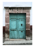 Aqua Door Photographic Print by Doug Landreth