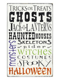Tricks or Treats 2 (white) Giclee Print by  Barn Owl Primitives