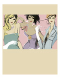 Girlfriends Giclee Print by Ashley David